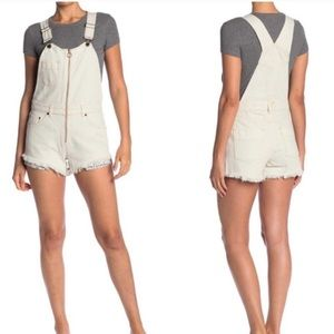 NWT Free People Sunkissed Short Overalls | 6